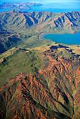 Eoliennes du Mont Kouré et la baie Ué, région de Prony, Sud de la Nouvelle-Calédonie