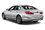 Car pictures of rear three quarter view of a 2018 BMW 5 Series 530i 4 Door Sedan angular rear