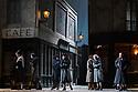 "English National Opera present their fourth revival of Jonathan Miller's production of Puccini's ""La Boheme"", in which Natalya Romaniw makes her ENO debut. Cast is: Natalya Romaniw (Mimi), Jonathan Tetelman (Rodolfo), Nicholas Lester (Marcello), Simon Butteriss (Benoit/Alcindoro), Nadine Benjamin (Musetta), David Soar (Colline), Bozidar Smiljanic (Schaunard). Picture shows: Members of the Chorus"