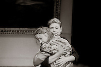 "Valentina Nrovka (Irene Worth) and Sophia Yepileva (Zoe Wanamaker) in  ""The Bay at Nice"" written and directed by David Hare, designed by John Gunter, National Theatre, London, 1986."