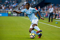 Kansas City, KS - Wednesday August 9, 2017: Jimmy Medranda during a Lamar Hunt U.S. Open Cup Semifinal match between Sporting Kansas City and the San Jose Earthquakes at Children's Mercy Park.