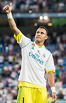 Goalkeeper Keylor Navas of Real Madrid celebrates after their Supercopa de Espana Final 2nd Leg match between Real Madrid and FC Barcelona at the Estadio Santiago Bernabeu on 16 August 2017 in Madrid, Spain. Photo by Diego Gonzalez Souto / Power Sport Images