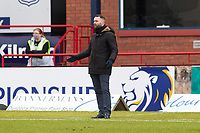 20th February 2021; Dens Park, Dundee, Scotland; Scottish Championship Football, Dundee FC versus Queen of the South; Dundee manager James McPake