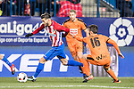"Yannick Ferreira Carrasco (l) of Atletico de Madrid competes for the ball with Francisco Manuel Rico Castro ""Fran Rico"" of SD Eibar during their Copa del Rey 2016-17 Quarter-final match between Atletico de Madrid and SD Eibar at the Vicente Calderón Stadium on 19 January 2017 in Madrid, Spain. Photo by Diego Gonzalez Souto / Power Sport Images"