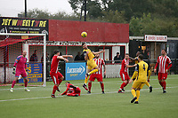 General view of the action during Bowers & Pitsea vs Hornchurch, Emirates FA Cup Football at The Len Salmon Stadium on 2nd October 2021