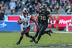 San Diego State Aztecs running back Juwan Washington (29) in action during the Armed Forces Bowl game between the San Diego State Aztecs and the Army Black Knights at the Amon G. Carter Stadium in Fort Worth, Texas.