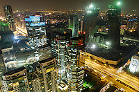 Central Business District (CBD) of Beijing in night. The Beijing CBD is a projected part of Beijing city, which is an area currently under immense development..