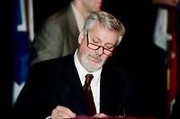 Montreal (Qc) CANADA -March 23, 1999<br /> -File Photo -<br /> <br /> Pierre-Marc Johnson, Honorary-President of Americana 1999<br /> <br /> <br /> PHOTO :  Agence Quebec Presse
