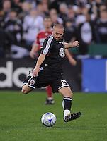 DC United midfielder Brandon Barklage (24)  Chicago Fire tied DC United 1-1 at  RFK Stadium, Saturday March 28, 2009.