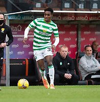 22nd August 2020; Tannadice Park, Dundee, Scotland; Scottish Premiership Football, Dundee United versus Celtic; Jeremie Frimpong of Celtic