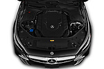 Car Stock 2019 Mercedes Benz S-Class S-560 2 Door Convertible Engine  high angle detail view