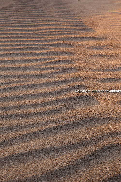 sand patterns at surf beach in Lompoc California