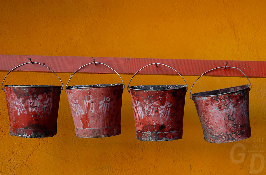 The buckets,The colors of the Tibetan Monestries and Temples in Tibet, Lhasa