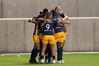 SANDY, UT - OCTOBER 03: Utah Royals FC celebrate a goal by Amy Rodriguez #8 during a game between Portland Thorns FC and Utah Royals FC at Rio Tinto Stadium on October 03, 2020 in Sandy, Utah.