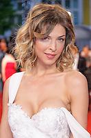 Eleonore Boccara arrive sur le tapis rouge pour la projection du film 'Juste la fin du monde' lors du 69ème Festival du Film à Cannes le jeudi 19 mai 2016.