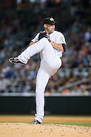 Charlotte Knights relief pitcher Matt Lindstrom (33) in action against the Indianapolis Indians at BB&T BallPark on June 20, 2015 in Charlotte, North Carolina.  The Knights defeated the Indians 6-5 in 12 innings.  (Brian Westerholt/Four Seam Images)