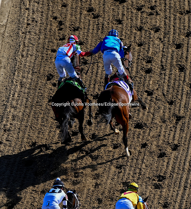 April 30, 2021 : Malathaat, #10, ridden by jockey John Velazquez, wins the 147th running of the Longines Kentucky Oaks on Kentucky Oaks Day at Churchill Downs on April 30, 2021 in Louisville, Kentucky. John Voorhees/Eclipse Sportswire/CSM