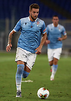 Football, Serie A: S.S. Lazio - Brescia, Olympic stadium, Rome, July 29, 2020. <br /> Lazio's Sergej Milinkovic Savic in action during the Italian Serie A football match between S.S. Lazio and Brescia at Rome's Olympic stadium, Rome, on July 29, 2020. <br /> UPDATE IMAGES PRESS/Isabella Bonotto