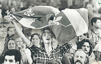 1980 FILE PHOTO - ARCHIVES -<br /> <br /> Outbursts of Quebec nationalism; as seen during the 1980 referendum<br /> 1980<br /> <br /> PHOTO : Boris Spremo - Toronto Star Archives - AQP
