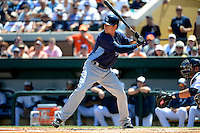 Tampa Bay Rays second baseman Kelly Johnson #2 during a Spring Training game against the Detroit Tigers at Joker Marchant Stadium on March 29, 2013 in Lakeland, Florida.  (Mike Janes/Four Seam Images)
