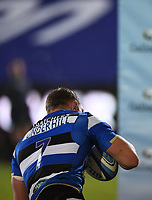 8th January 2021; Recreation Ground, Bath, Somerset, England; English Premiership Rugby, Bath versus Wasps; Sam Underhill of Bath scores a try