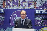 Real Madrid's  president Florentino Perez during Danilo´s presentation at the Santiago Bernabeu stadium in Madrid, Spain. July 09, 2015. (ALTERPHOTOS/Victor Blanco)