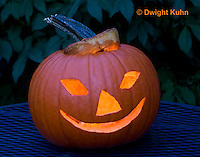 DC08-628z Jack-o-Lantern Pumpkin with candle light, Halloween
