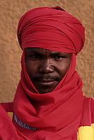 Agadez, Niger, West Africa.  Guard of the Sultan of Agadez.