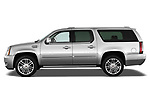 Driver side profile view of a 2007 - 2014 Cadillac Escalade ESV Premium SUV
