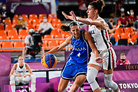 210724 -- TOKYO, July 24, 2021 -- Chiara Consolini L of Italy competes during the 3X3 basketball compeition women s pool round between France and Italy at the Tokyo 2020 Olympic Games, Olympische Spiele, Olympia, OS in Tokyo, Japan, July 24, 2021.  TOKYO2020JAPAN-TOKYO-OLY-3x3 BASKETBALL-WOMEN S POOL ROUND ZhangxXiaoyu PUBLICATIONxNOTxINxCHN <br /> Photo XINHUA / Imago  / Insidefoto ITALY ONLY