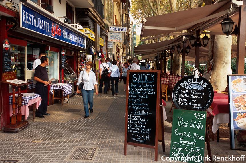 Spanien, Mallorca, auf der Avinguda d'Antoni Maura in Palma de Mallorca
