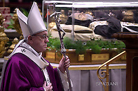 Pope Francis  mass for Ash Wednesday,The coffin of St Padre Pio  February,10, 2016