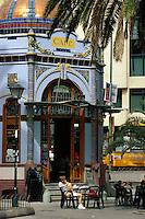 Spanien, Kanarische Inseln, Gran Canaria, Las Palmas. Kiosk im Parque de San Telmo