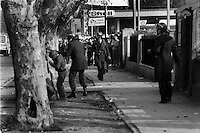 Paro estudiantil contra el gobierno para adherir a las movilizaciones que exigen reformas educacionales y retorno a la democracia.<br /> Santiago Chile 07 Agosto 1985<br /> Forty years ago, on September 11, 1973, a military coup led by General Augusto Pinochet toppled the democratic socialist government of Chile. President Salvador Allende was killed during the  attack to seize  La Moneda presidential palace.  In the aftermath of the coup, a quarter of a million people were detained for their political beliefs, 3000 were killed or disappeared and many thousands were tortured.<br /> Some years later in 1981, while Pinochet ruled Chile with iron fist, a young photographer called Juan Carlos Caceres started to freelance in the streets of Santiago and the poblaciones or poor outskirts, showing the growing resistance against the dictatorship. For the next 10 years Caceres photographed every single protest and social movement fighting for the restoration of democracy. He knew that his camera was his only weapon, he knew that his fate was to register the daily violence and leave his images for the History.<br /> In this days Caceres is working to rescue and organize his collection of images in the project Imagenes de la Resistencia   . With support of some Chilean official institutions, thousands of negatives are digitalized and organized to set up the more complete visual heritage of this  violent period of Chile´s history.<br /> In a time when technology was not very friendly and communications were kind of basic, Juan Carlos Caceres and other photojournalist were always at the right place in the right moment defying the threats of the police. Their work is now  a visual heritage that documents and remind us the fight of Chilean people for democracy.