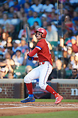 Jarred Kelenic (10) of Waukesha West High School in Waukesha, Wisconsin at bat during the Under Armour All-American Game presented by Baseball Factory on July 29, 2017 at Wrigley Field in Chicago, Illinois.  (Mike Janes/Four Seam Images)