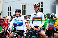 Picture by Alex Whitehead/SWpix.com - 13/06/2018 - Cycling - 2018 OVO Energy Women's Tour - Stage 1, Framlingham to Southwold - Marianne Vos and Chantal Blaak.