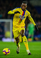 Aaron Wan-Bissaka of Crystal Palace (29) In action ,during the Premier League match between Brighton and Hove Albion and Crystal Palace at the American Express Community Stadium, Brighton and Hove, England on 4 December 2018. Photo by Edward Thomas / PRiME Media Images.