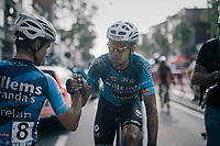 Wout Van Aert (BEL/Vérandas Willems-Crelan) after finishing and  'losing' this race (and finishing 2nd) <br /> <br /> 92nd Schaal Sels 2017 <br /> 1 Day Race: Merksem > Merksem (188km)