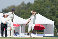 James Harris of Middlesex CCC in action during Middlesex CCC vs Hampshire CCC, Bob Willis Trophy Cricket at Radlett Cricket Club on 11th August 2020