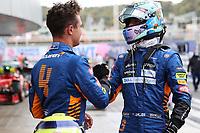25th September 2021; Sochi, Russia; F1 Grand Prix of Russia  qualifying sessions;  F1 Grand Prix of Russia 4 Lando Norris GBR, McLaren F1 Team, 3 Daniel Ricciardo AUS, McLaren F1 Team
