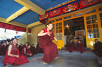 Monks debating at Namgyal monastery.