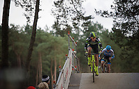 Sven Nys (BEL/Crelan-AAdrinks) crossing the bridge<br /> <br /> 2016 Belgian National CX Championships