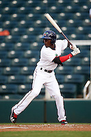Fort Myers Miracle shortstop Nick Gordon (2) at bat during a game against the Brevard County Manatees on April 13, 2016 at Hammond Stadium in Fort Myers, Florida.  Fort Myers defeated Brevard County 3-0.  (Mike Janes/Four Seam Images)