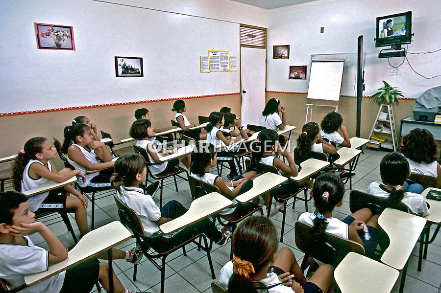 Sala de aula da escola estadual Monteiro Lobato em Boa Vista. Roraima. 2003. Foto de Juca Martins.
