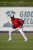 Washington Nationals outfielder Juan Soto (22) during a Major League Spring Training game against the Miami Marlins on March 20, 2021 at FITTEAM Ballpark of the Palm Beaches in Palm Beach, Florida.  (Mike Janes/Four Seam Images)