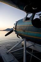 Cessna 195, N3877V, on floats docked at the Skylark Shores Resort dock, Seaplane Splash-In, Lakeport, Lake County, California