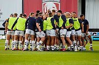 21st August 2020; Kingsholm Stadium, Gloucester, Gloucestershire, England; English Premiership Rugby, Gloucester versus Bristol Bears; Bristol Bears huddle before the game