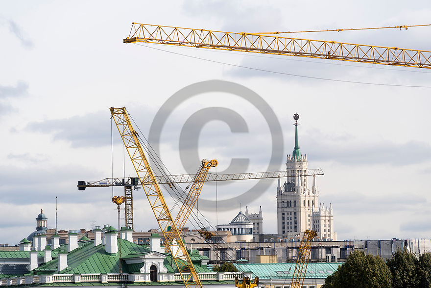 29/09/18 - MOSCOU - RUSSIE - Illustration, travaux et investissements dans la capitale Moscovite - Photo Jerome CHABANNE