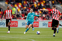 22nd May 2021; Brentford Community Stadium, London, England; English Football League Championship Football, Playoff, Brentford FC versus Bournemouth; David Brooks of Bournemouth and Dalsgaard of Brentford chase the loose ball