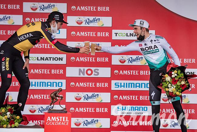 Wout van Aert (BEL/Jumbo-Visma) wins the 55th Amstel Gold Race 2021 (1.UWT)<br /> <br /> 1 day race from Valkenburg to Berg en Terblijt; raced on closed circuit (NED/217km)<br /> <br /> ©kramon